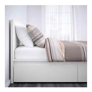 IKEA MALM QUEEN BED WHITE WITH STORAGE