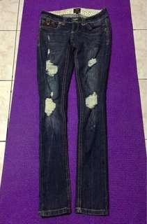 💯Original River Island Tattered Denim Jeans