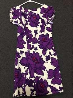 Ladakh purple floral dress