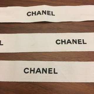 CHANEL 粗絲帶 $20三條 (2.5cm粗) 名牌專門店絲帶