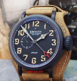 Brand New ZENITH Heritage Pilot Montre d'Aéronef Type 20 GMT 1903 Limited Edition. Model 96.2431.693/21.C738