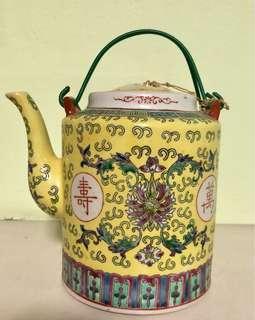 Antique Yellow Tea Pot