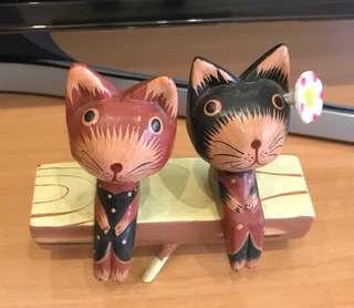 代售:峇里島木雕 貓咪