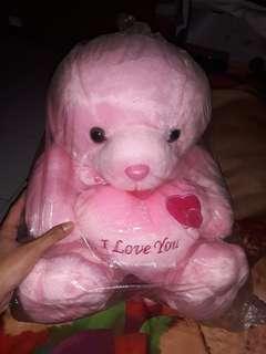 Boneka bear pink medium