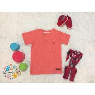 HnM look likr Tshirt orange Ready stock!!  size : perkiraan usia 3th, 4th, 5th