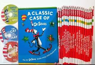 Dr Seuss Books set of 20 books with cd