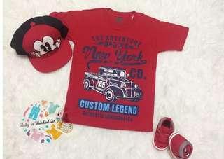 VIGGO KIDDO Tshirt red size : perkiraan usai 8th (LD 35cm, P 50cm) , perkiraan usia 10th (Ld 37cm P52cm)