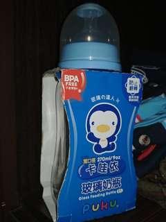 PUKU Glass feeding bottle