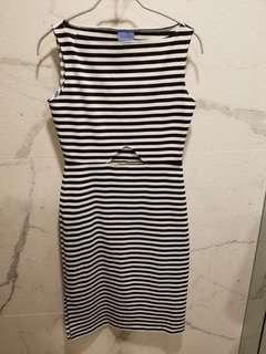 Macgraw 間條連身裙