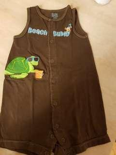 carters 12m turtle at the beach romper