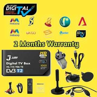 NEW 2018 MODEL! DVB-T2 Mediacorp Digital Receiver TV box. Record shows and wifi enabled. 2 months Warranty.