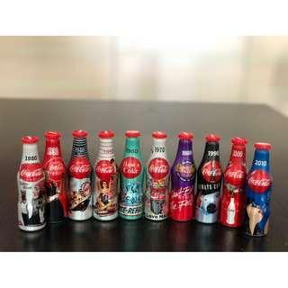 可口可樂一百周年迷你鋁瓶一套10枝
