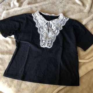 Lace Collar Top