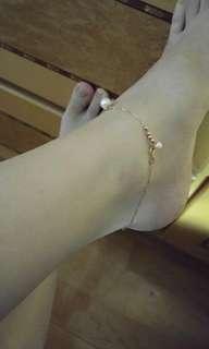 18k 日本珍珠 腳鏈