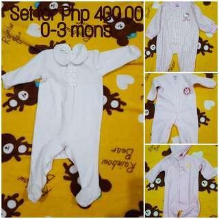 Pre loved baby girl clothes (longsleeve onesies)