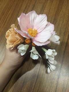 Cake Topper Cascading Flower Arrangement