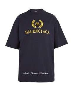 BALENCIAGA Logo print Cotton T-Shirt (Latest Design)