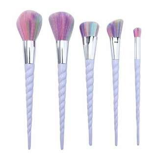 5pcs unicorn brush white set