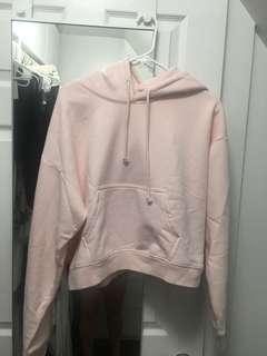 Baby Pink Aritzia Cropped Hoodie