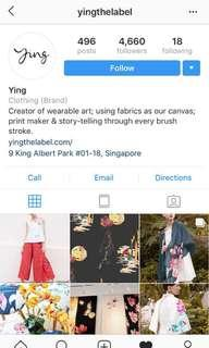 YING THE LABEL $500 Shopping voucher