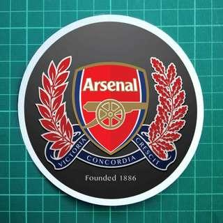 Man U Arsenal Liverpool FC - Static Cling Decals. 11cm overall diameter. $6 each / Any 3 for $15. Free Normal Mail. Add $2.90 for AM Mail.