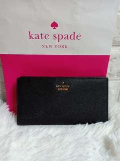 authentic kate spade long slim wallet not coach ,mk ,lacosteDkny