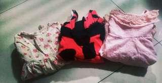 3 pcs of princess dress
