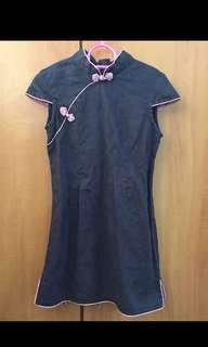Blue Cheongsam Dress