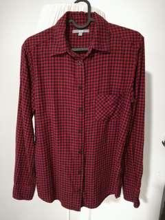 UNIQLO Long Sleeves Checkered Shirt Size M