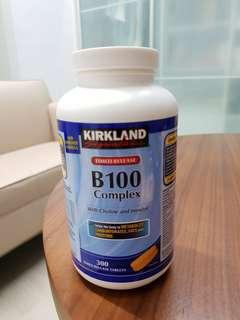 B complex 300 tablets vitamin supplement health