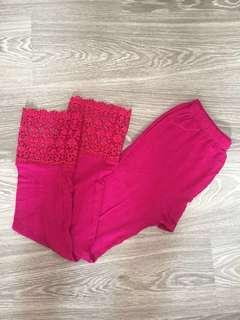 Dark pink legging