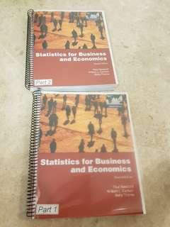 Statistics for Business and Economics Part 1 and 2