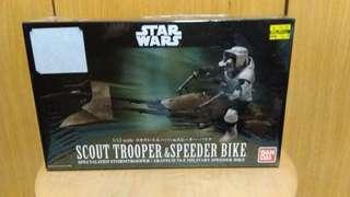 Bandai Star Wars Scout Trooper scale:1/12 model kit.