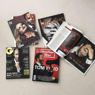 Magazines with Tom Ford editorials