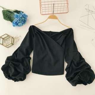 🚚 PO: Valerie's Extra Ruffle V Neck Blouse (Korean Fashion)