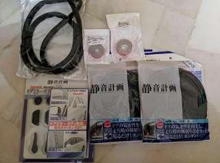 Soundproofing rubber seals