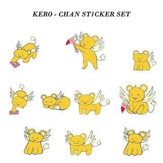 Hand cut Kero-chan Stickers