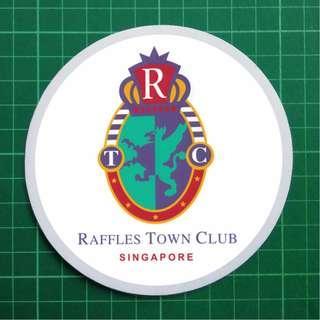 Raffles Town Club / Singapore Recreation Club / Tanglin Club / One'15 Marina / Singapore Rifle Association - Static Cling Decals. 11cm diameter. $6 each. 3 for $15. Free Normal Mail.