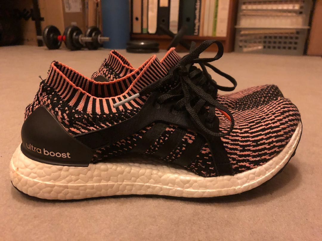 42cfdd8d4fbd5 Adidas ultra boost x orange black women s