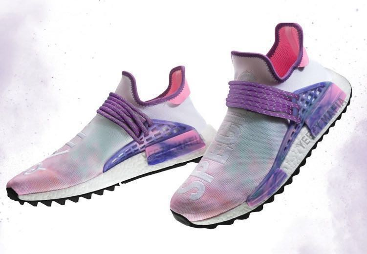 7416db719 Adidas x Pharrell Williams Hu Trail Holi Pink Glow NMDs UK 8