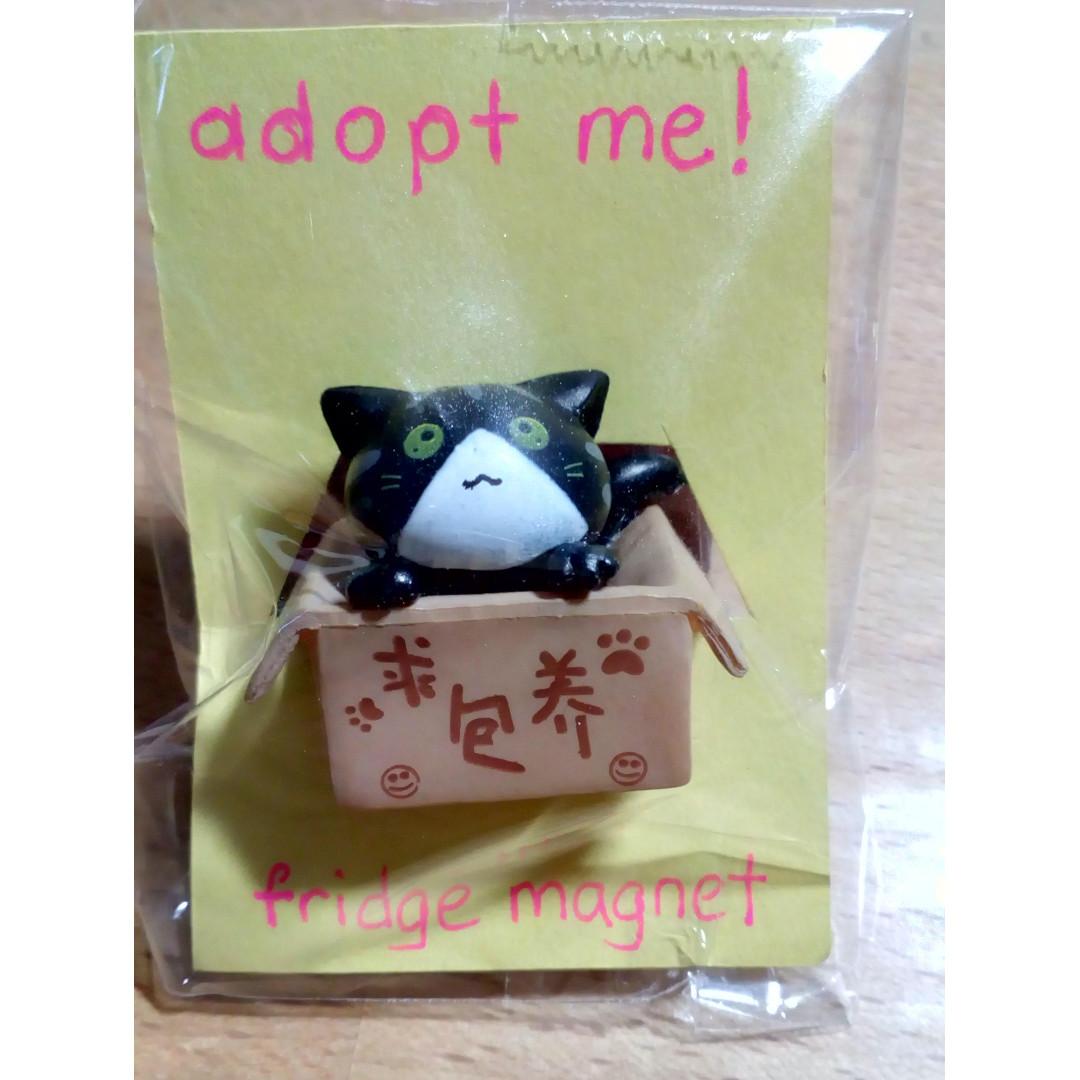 Adopt Me! Box Kitty Fridge Magnet Black (item code:ACCE18/040011-BK)