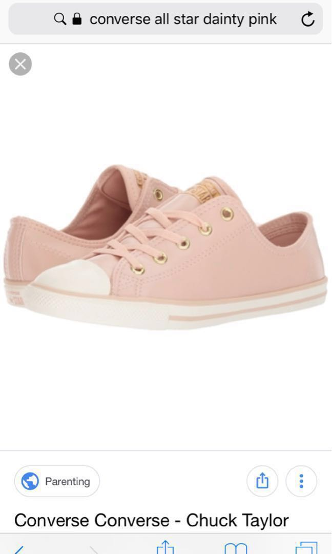 d4612b1ac9d6 Authentic Converse Chuck Taylor All Star Dianty Pink Leather ...