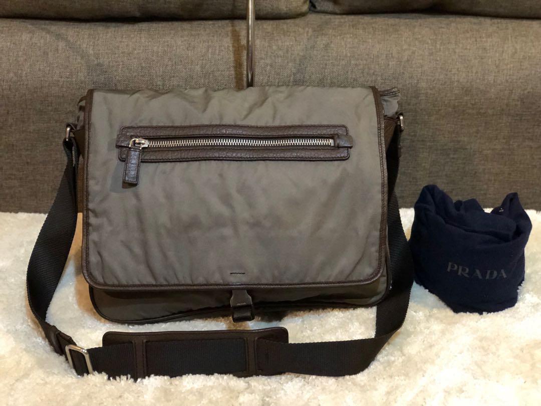 68499494d056 Authentic Prada Messenger Bag With Dustbag