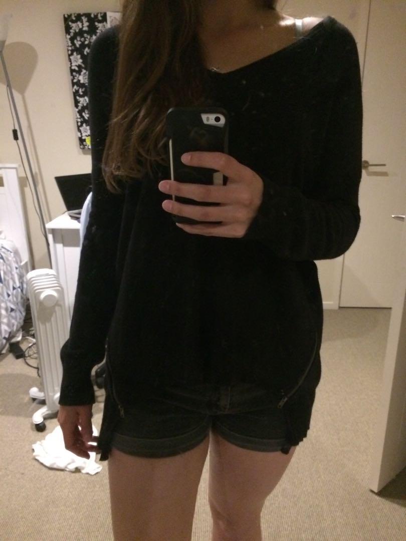 Black cotton top