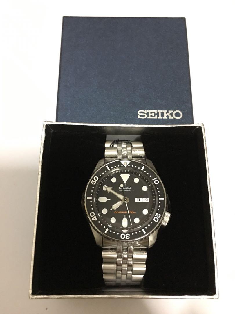 Brand New Seiko Skx007 Divers Watch Black Dial Men S Fashion