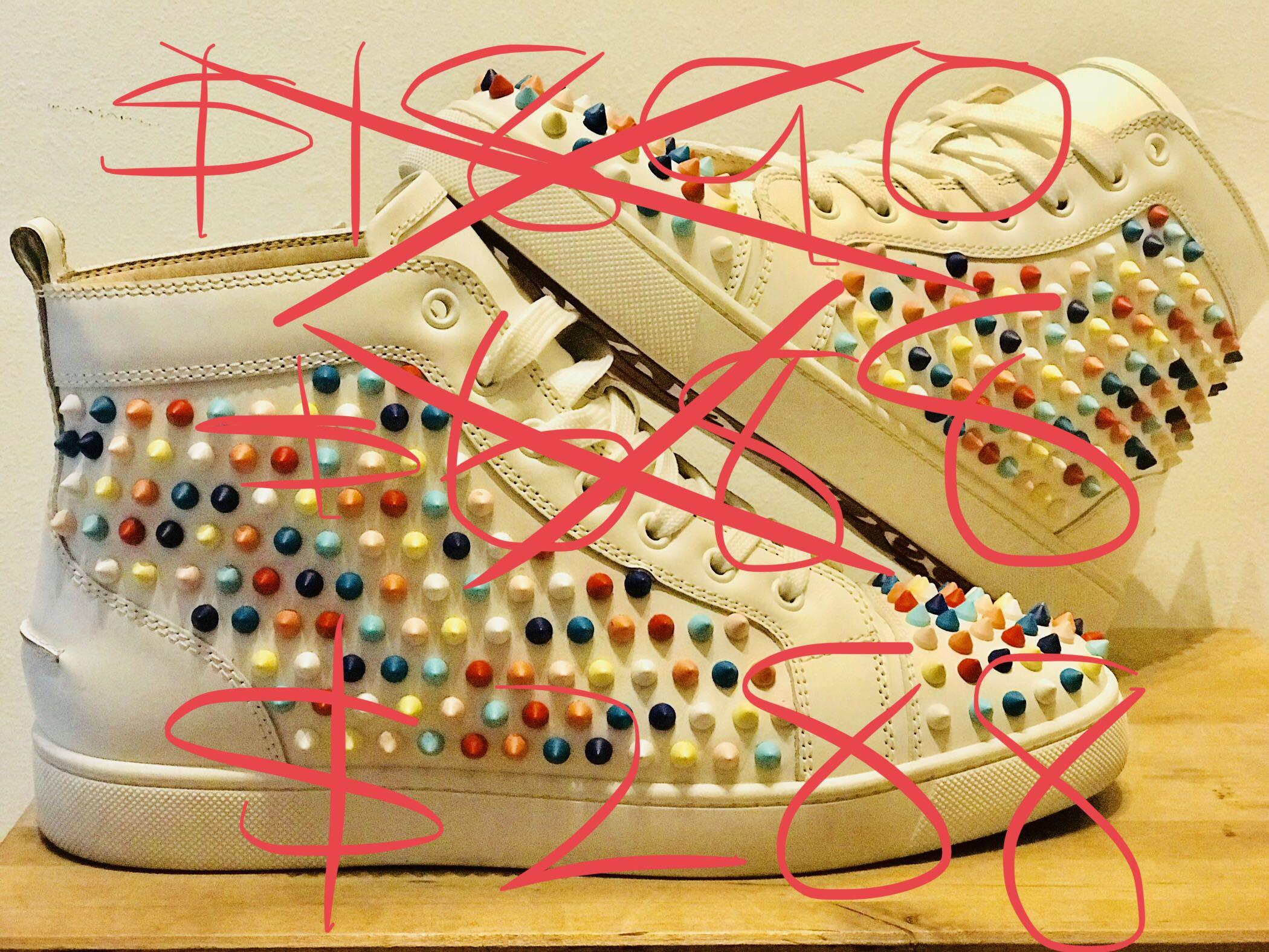 "b1fb3bc1497 Christian Louboutin ""Yang Louis Flat"" High Sneakers Original @ $1890, Now  $288"