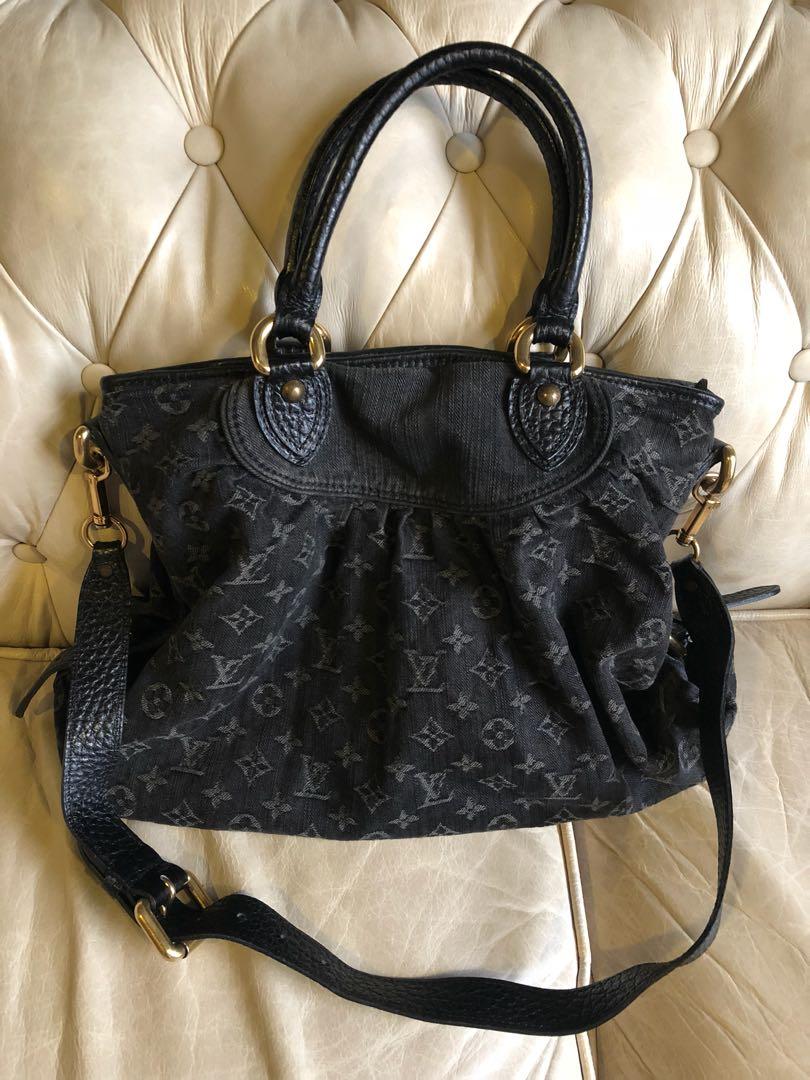 8a86029c83a2 📣Clearing sales. Authentic Louis Vuitton Denim bag in black