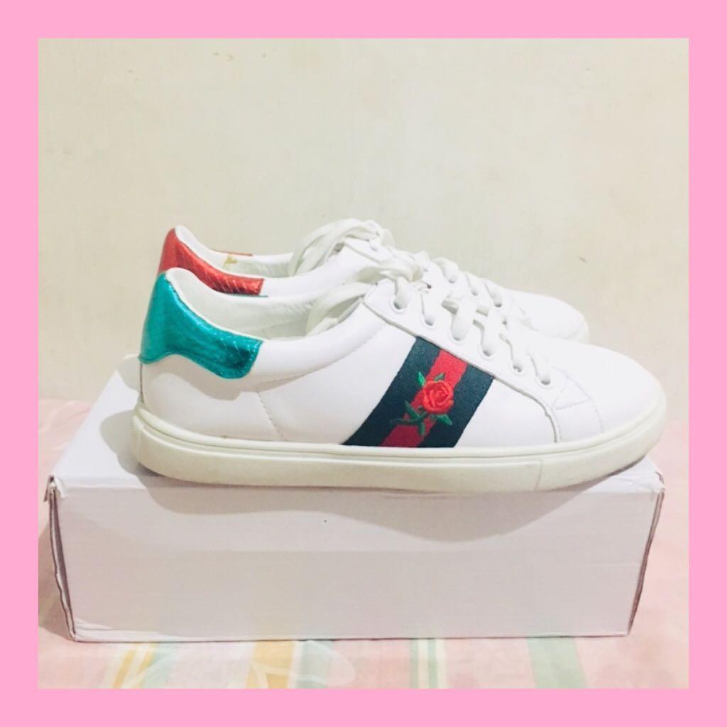 caf214e89510 SALE! Daniel Rose Gucci Inspired White Sneakers ♡
