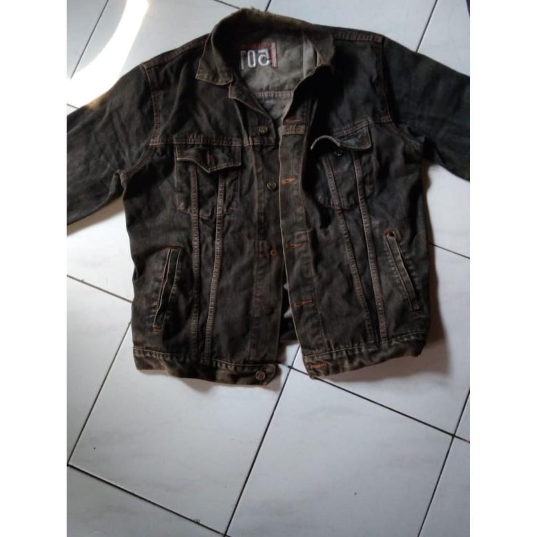 Denim Jacket Pria Jeans Jaket Jeanas Hoodie Oversized