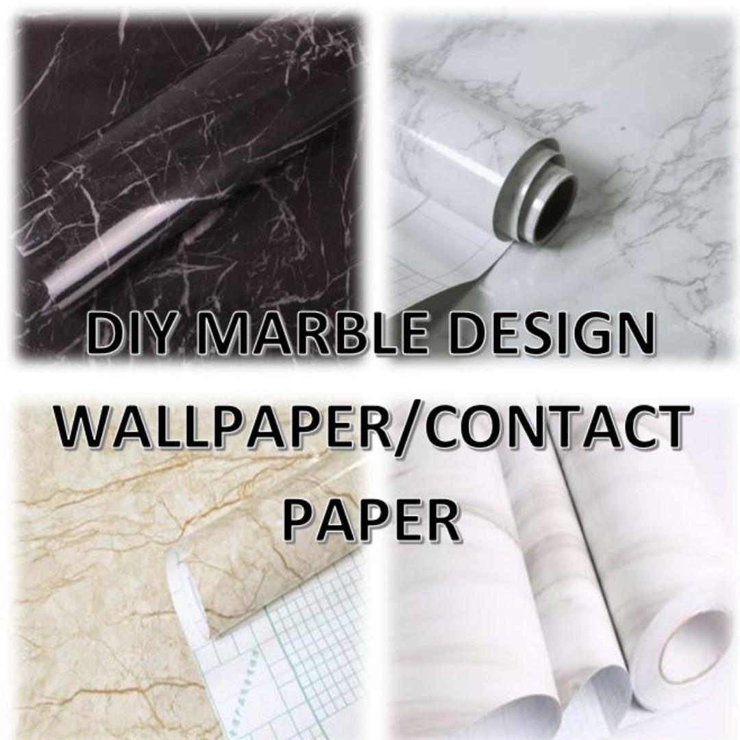 Diy Marble Self Adhesive Contact Paper Wallpaper Home Decor
